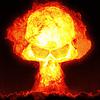 Wybuch jądrowy z czaszką | Stock Illustration
