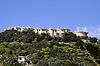 Blick Markt auf sterben Ortschaft Costa Rei, Sardinien | Stock Foto