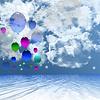 Balon w tle | Stock Foto