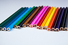 Stack of colored pencils | Stock Foto