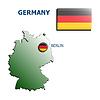 Collage Karte Flagge Abzeichen Deutschland