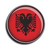 Flaggen-Symbol-Web-Schaltfläche Albanien