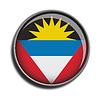 Flaggen-Symbol-Web-Schaltfläche Antigua und Barbuda