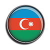 Zaznacz ikonę sieci web przycisk Azerbejdżan | Stock Vector Graphics