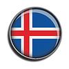 Flaggen-Symbol-Web-Schaltfläche island