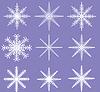 ID 4173286 | Snowflakes - Ready for Brush Templates | Foto stockowe wysokiej rozdzielczości | KLIPARTO