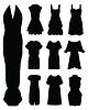 Frauenkleid, | Stock Vektrografik