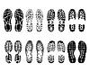 Schuhabdrücke | Stock Vektrografik