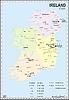 Landkarte von Irland mit Nordirland