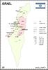 Landkarte von Israel mit Palästina