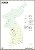 Landkarte von Korea