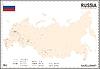 Landkarte der Russischen Föderation
