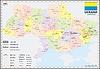 Landkarte von Ukraine
