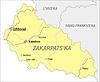 Landkarte von Oblast Transkarpatien