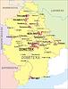 Landkarte von Oblast Donezk