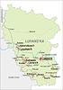 Landkarte von Lugansk Oblast