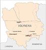 Landkarte von Oblast Wolhynien