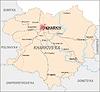 Landkarte von Oblast Charkiw