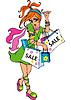hübsches junges modisches Teenager Mädchen im Einkaufs