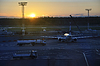 Ein Blick am frühen Morgen von Domodedovo Airport. | Stock Foto