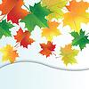 Herbst-Blätter auf dem weißen Hintergrund. | Stock Vektrografik
