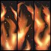 Векторный клипарт: Языки пламени.