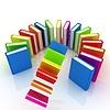 Kolorowe książki latające | Stock Illustration