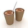Kawa w fast-food naczynia jednorazowe | Stock Illustration