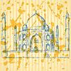 Sketch Taj Mahal, Jahrgang Hintergrund