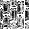 Sketch London-Telefonkabine, nahtlose Muster