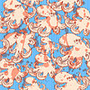 Sketch Oktopus, Jahrgang nahtlose Muster