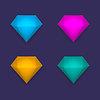 Цветные алмазы, фон | Векторный клипарт