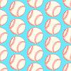 Sketch Baseball-Ball, nahtloses Muster