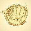 Sketch Baseball-Handschuh, Jahrgang Hintergrund