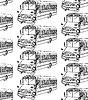 Эскиз школьный автобус в винтажном стиле | Векторный клипарт