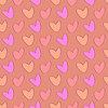 Векторный клипарт: Эскиз сердца в винтажном стиле