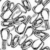 Векторный клипарт: Эскиз пудреницу и лак для ногтей