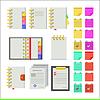 Flache Symbole für Notebooks