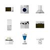Flache Symbole für Heimgeräte