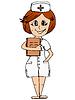 Векторный клипарт: Медсестра