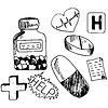Векторный клипарт: Медицина иконы каракули