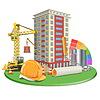 Wohnzimmer Blocks Konstruktion | Stock Vektrografik