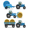Agricultural Tractor Set | Stock Vektrografik