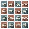 Traktor Wohnung Icons