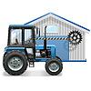 Traktor-Reparatur-Konzept