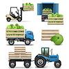 Landwirtschaftliche Icons | Stock Vektrografik