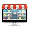 Computer-Supermarkt-Konzept