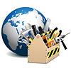 Toolbox mit Globe