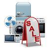Haushaltsgeräte Verkauf | Stock Vektrografik