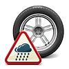 Regen-Reifen mit Zeichen